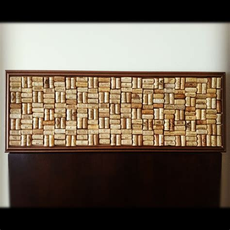 Cork Board Headboard by Diy Cork Board From Wine Corks