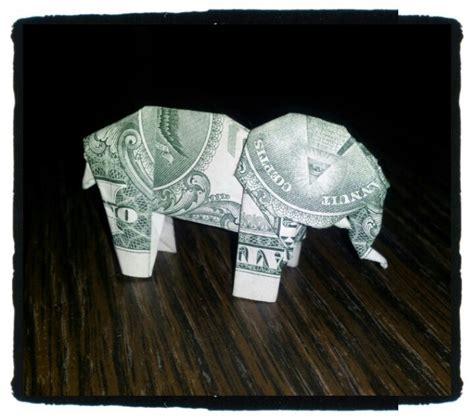 Elephant Money Origami - elephant money origami