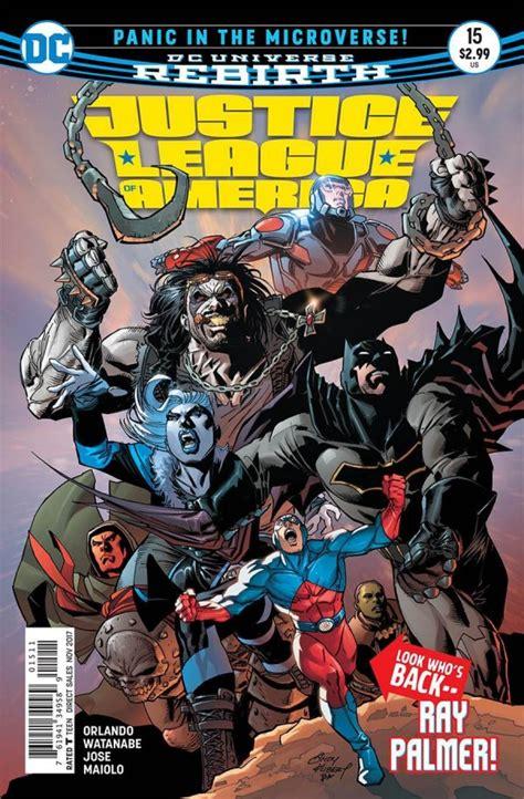 Dc Comics Justice League 16 May 2017 justice league of america 15 2017 vf nm dc piranha comics