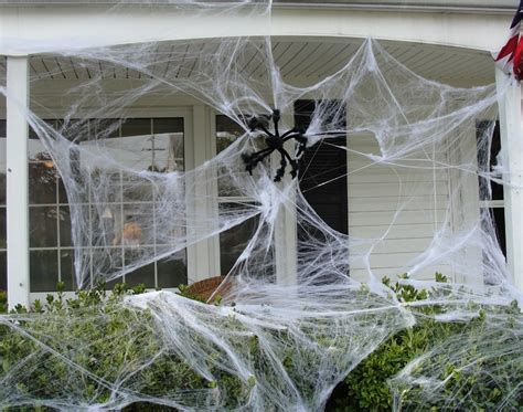 spider webs outdoor decorations decoration - Decorating With Spider Webs For