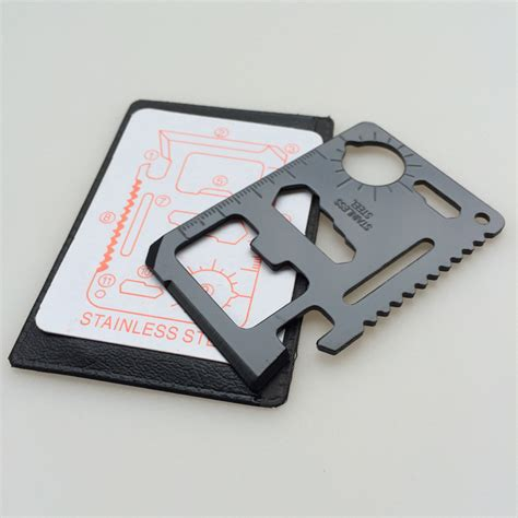 wallet tool card 500pcs lot stainless steel multifunctional travel survival