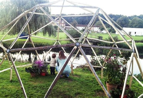pictures of a build it yourself pvc dome greenhouse modular diy dome kit flexible connectors join geodesic