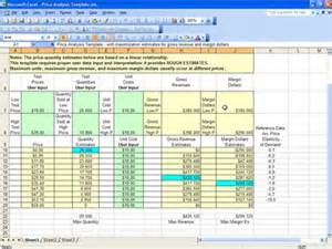 cost price analysis template price analysis spreadsheet excel template