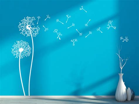 wandtattoo pusteblumen im wind von klebeheldde