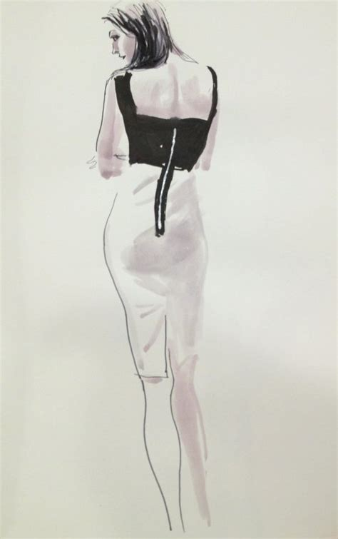 fashion illustration back pose an angelys balek fashion sketch session whimsical tales
