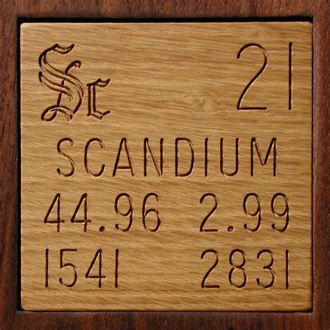 facts pictures stories about the element scandium in the
