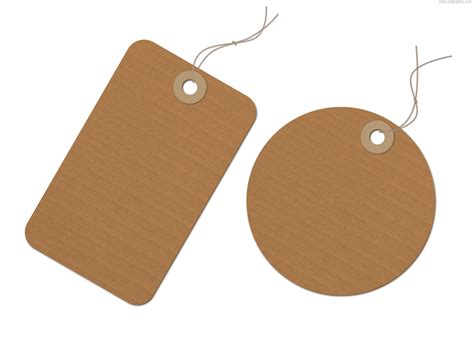How To Make Paper Tags - brown recycled paper tag psd