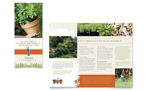 Nursery Brochure Templates Free by Landscape Garden Store Brochure Template Word Publisher
