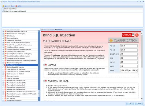 blibli web application security policy enforcement point adapt the web security scan results to your security policies
