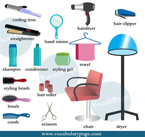 Hair Salon Vocabulary | beauty salon vocabulary