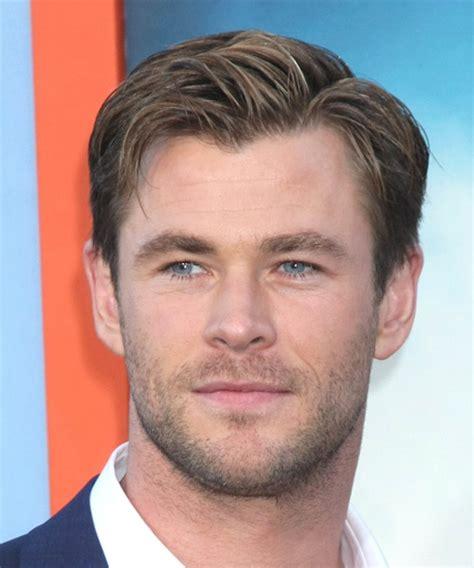 Chris Hemsworth Short Straight Formal Hairstyle   Medium