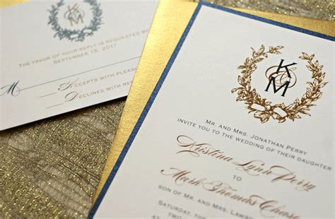wedding invitations navy and gold gilded wedding invitations etsy weddings stationery gold