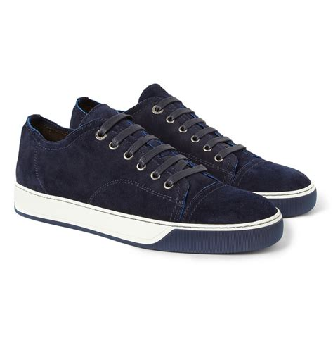 lanvin s sneakers lyst lanvin suede sneakers in blue for