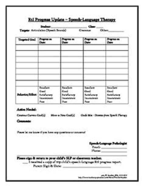speech therapy progress report template 1000 images about mtss on response to