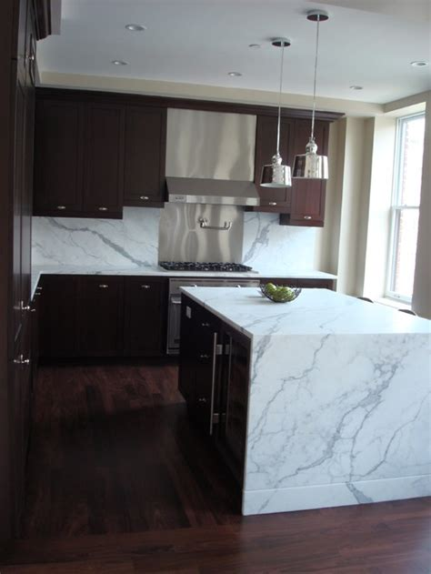 waterfall countertop design trend marble granite waterfall countertops