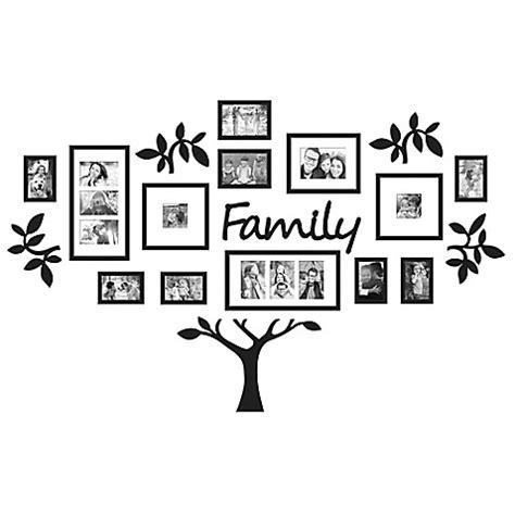 9 piece family tree wall photo frame set hanging frames buy wallverbs 19 piece quot family quot tree set in black from