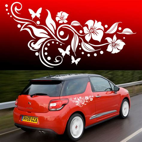 design graphics cars 2x butterfly flower vinyl car graphics stickers decals