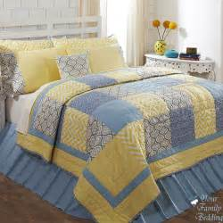 Quilt Or Coverlet Blue And Yellow Bedroom Bukit