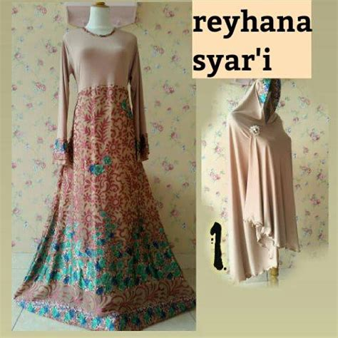 Ready Bunda Dress Gamis Syari Sleting Depan Murah reyhana syar i dress outlet nurhasanah outlet baju