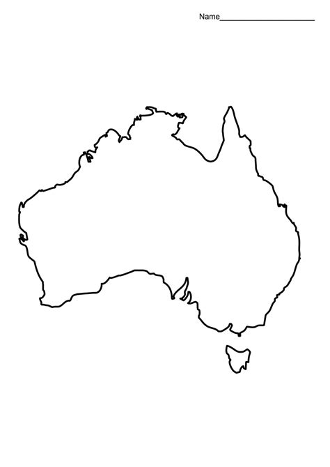 australia map template australia map outline printable