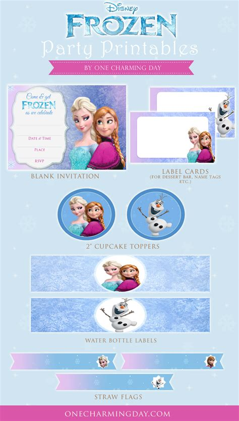 printable party decorations frozen free frozen party printables one charming day