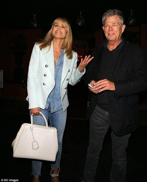 david and yolanda foster mystery blonde pictured with christie brinkley enjoys date with david foster daily