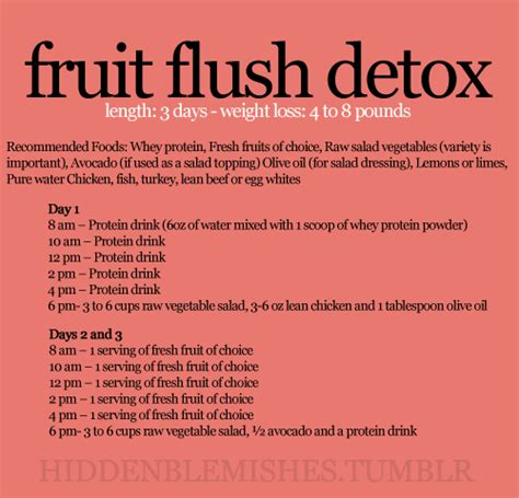 Fruit Flush 3 Day Detox Results and the e2 diet challenge easy healthy recipes