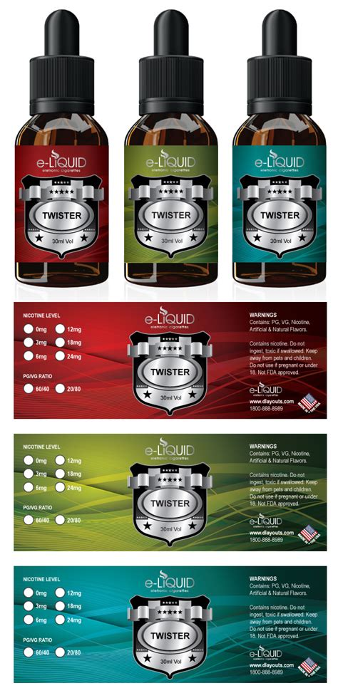 E Juice Label Template E Liquid Label Template