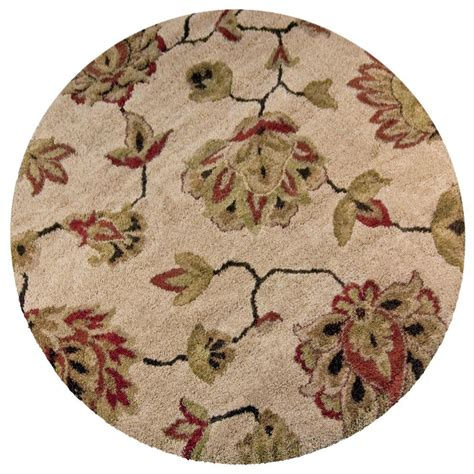 Orian Rugs Como Bisque 7 Ft 10 In Round Area Rug 238587 10 Foot Area Rugs