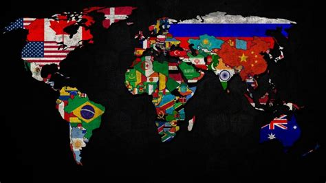 flags of the world background world map and flags wallpaper wide or hd digital art