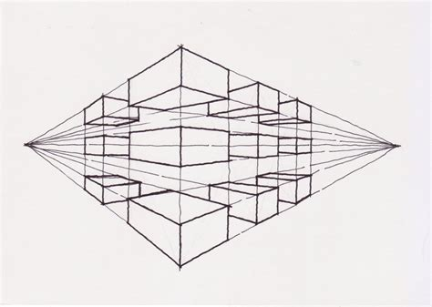 Drawing 2 Point Perspective by Pin Two Point Perspective Drawing On