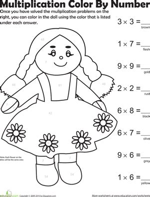 coloring pages third grade multiplication worksheets