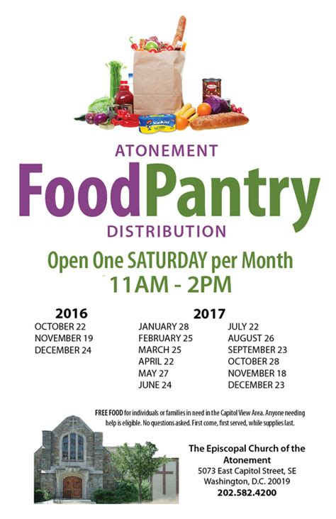Church Food Pantry List by Food Pantry