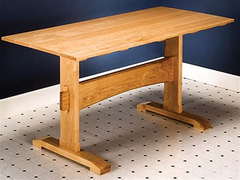 build a simple desk how to build a trestle table simple diy woodworking project