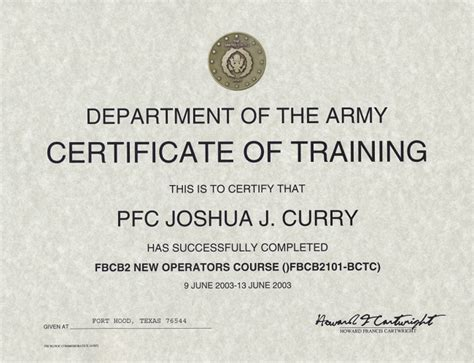 army certificate of completion template 27 images of marine completion certificate