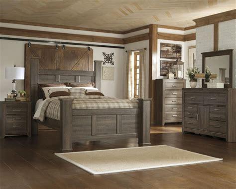 dark bedroom set juararo 4pc poster bedroom set in dark brown