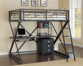 Metal Loft Bed With Desk by Cool Size Loft Bed With Desk Designs Ideas Decofurnish
