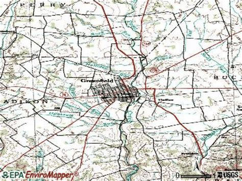 greenfield ohio map greenfield ohio oh 45123 profile population maps