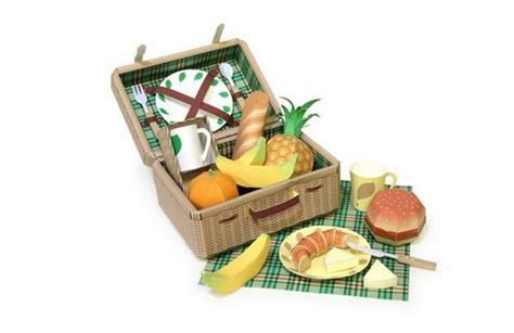 food papercraft template new paper craft picnic food papercrafts free templates