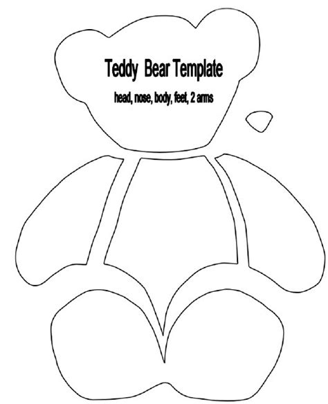 Printable teddy bear sewing pattern car pictures
