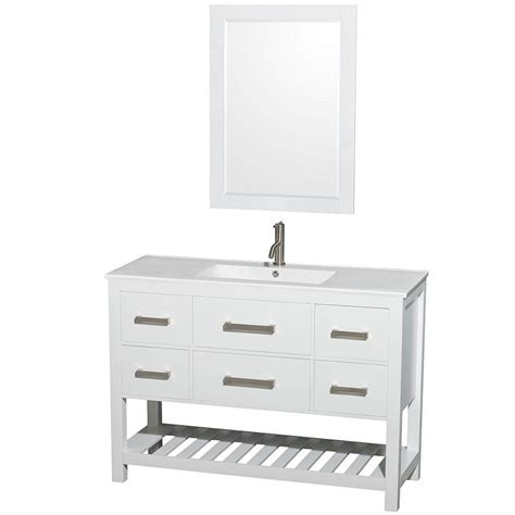 wyndham collection natalie 48 in vanity in white with