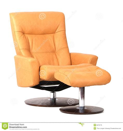 yellow recliner chair yellow luxury leather recliner royalty free stock image