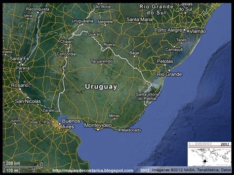 Imagenes Satelital Del Uruguay | uruguay vista satelital de google maps