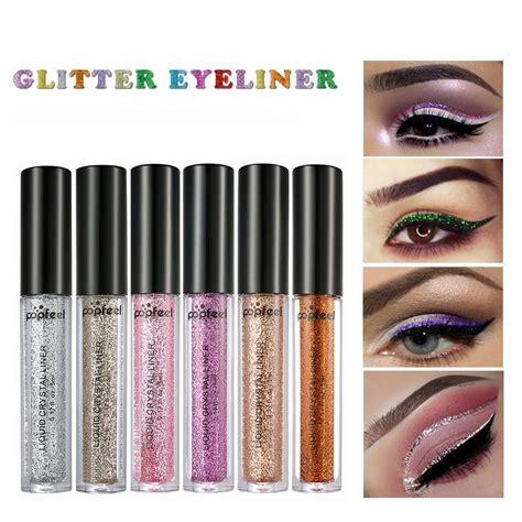 popfeel new waterproof liquid eyeliner makeup 12 colors metal glitter eyeliner shimmer eye liner