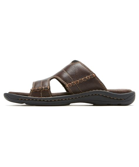 mens slide sandals rockport s kevka lake slide sandals in brown for