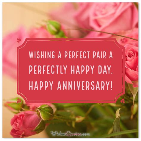 Wedding Anniversary Wishes To A Wonderful by Anniversary Wishes For Couples Friends Parents