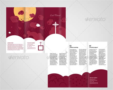 free church brochure templates local church trifold brochure graphicriver