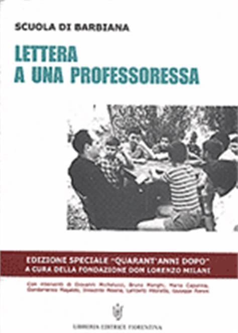 lettere a una professoressa pdf lettera ad una professoressa fondazione don lorenzo milani