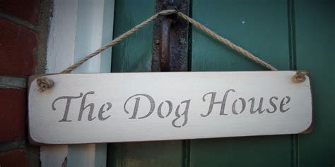 the dog house sign the dog house hanging sign 163 10 00 rope hanging signs austin sloan handmade wooden