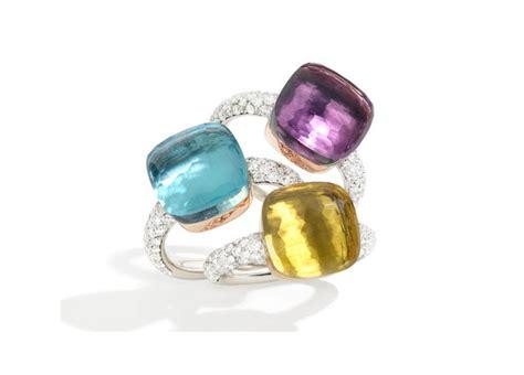 anello nudo di pomellato pomellato nudo con brillanti gioiellis